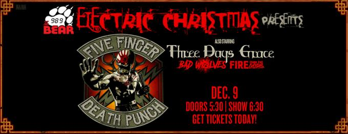 Five Finger Death Punch, Three Days Grace & Bad Wolves at Wells Fargo Arena