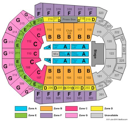 wells fargo arena seating chart